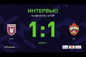 ЮФЛ-1. Рубин - ЦСКА. 4-й тур. Интервью