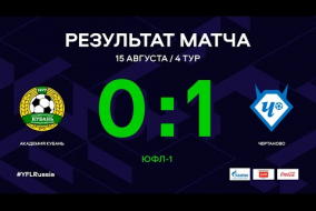 ЮФЛ-1. Академия Кубань - Чертаново. 4-й тур. Обзор