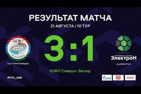 СШ-7 Петрозаводск — СШ Электрон. Обзор матча   10 тур   ЮФЛ СЗ