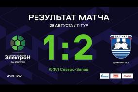 СШ Электрон – ЦПМФ Балтика. Обзор матча | 11 тур | ЮФЛ СЗ