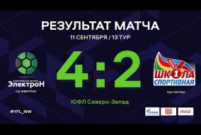 СШ Электрон – СШ-1 Котлас. Обзор матча   13 тур   ЮФЛ СЗ