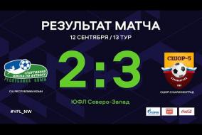СШ Республики Коми – СШОР-5 Калининград. Обзор матча | 13 тур | ЮФЛ СЗ