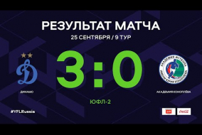 ЮФЛ-2. Динамо - Академия Коноплева. 9-й тур. Обзор