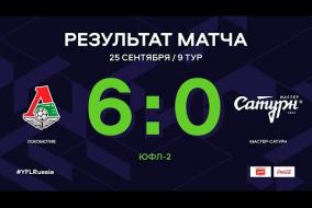 ЮФЛ-2. Локомотив - Мастер-Сатурн. 9-й тур. Обзор