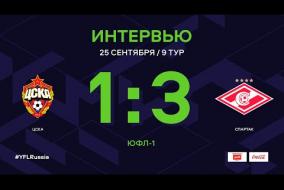 ЮФЛ-1. ЦСКА - Спартак. 9-й тур. Интервью