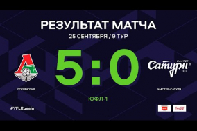 ЮФЛ-1. Локомотив (Москва) - Мастер-Сатурн. 9-й тур. Обзор