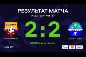 СШОР-5 Калининград – СШОР Мончегорск. Обзор матча | 18 тур | ЮФЛ СЗ