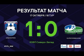 ЦПМФ Балтика – СШ Республики Коми. Обзор матча   18 тур   ЮФЛ СЗ