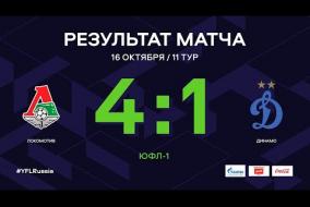 ЮФЛ-1. Локомотив - Динамо. 11-й тур. Обзор
