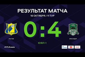 ЮФЛ-1. Ростов - Краснодар. 11-й тур. Обзор